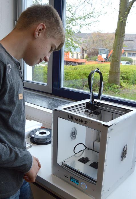 Arbeiten am 3D-Drucker