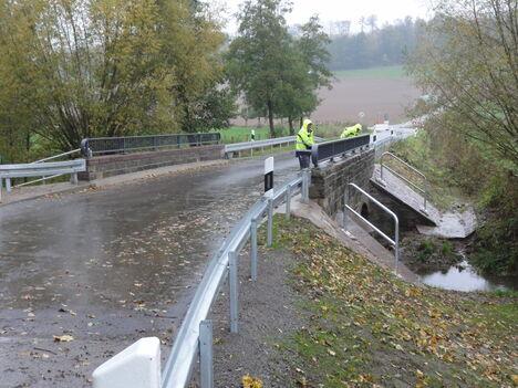 Arbeiten an der Niesebrücke bei Kollerbeck