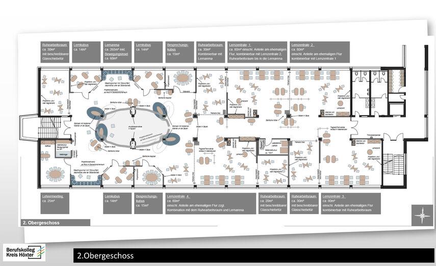 Skizze vom geplanten Digi-Lab.