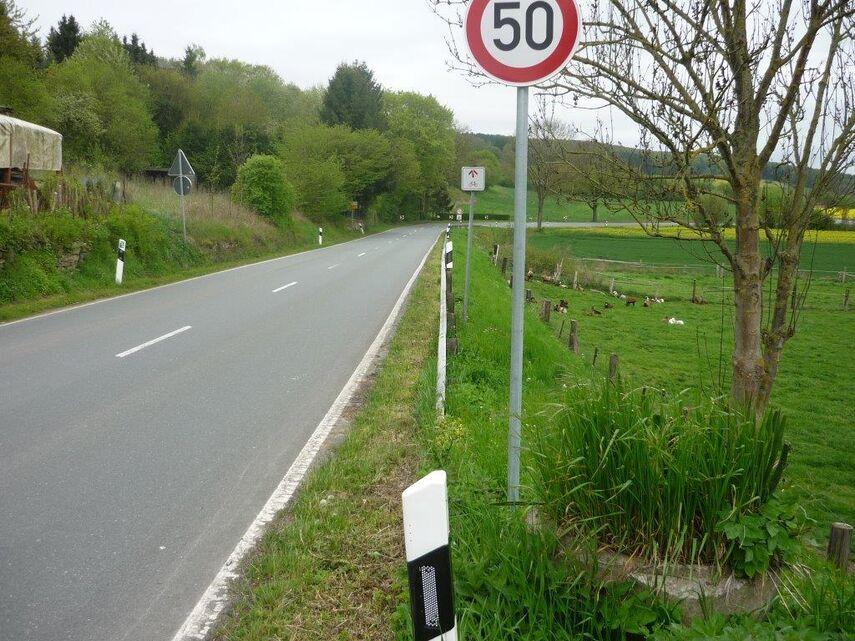 Straße zwischen Riesel und Istrup.
