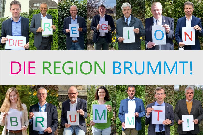 14 beteiligte Akteure machen Werbung für die Aktion 'Die Region brummt!'